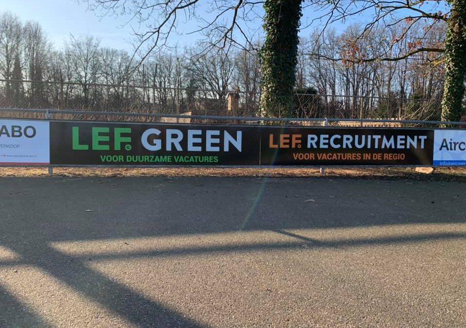 LEF Green, LEF Recruitment & ABO Autoservice nieuwe (bord) sponsoren